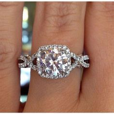 The twisted shank on this diamond engagement ring is an extra-special touch for the lady who loves details! Start customizing your version of this ring today.