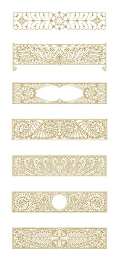 Art Deco Illustrations and Decorative Ornaments Motif Art Deco, Art Deco Pattern, Art Nouveau Design, Pattern Design, Vector Pattern, Design Design, Free Pattern, Art Deco Illustration, Doodle Drawing