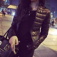 2016 do sexo feminino inverno e primavera casaco de algodão seção curta Outwear casaco quente de algodão acolchoado Outwear Parkas casuais fino roupas femininas