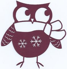 Winter owl silhouette by hilemanhouse on Etsy, $1.99
