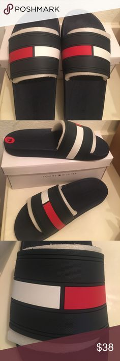 77783ffdfdbd28 Tommy Hilfiger Slides Men on Poshmark! My username is