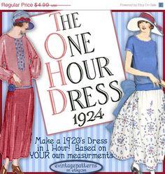 SALE 1920's 1 HOUR Dress -make Your own frock patterns like Downton Abbey- Vintage FLAPPER e-booklet pdf A. $4.24, via Etsy.
