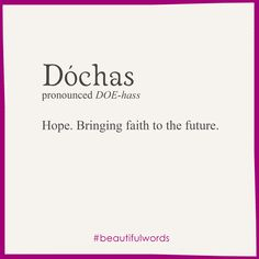 Irish word meaning Hope