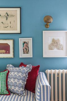 Octavia Dickinson | House & Garden Unique Home Decor, Cheap Home Decor, Blue Bedroom Paint, Farrow And Ball Paint, Farrow Ball, Home Room Design, Luxury Homes Interior, Decorating Small Spaces, Soft Furnishings