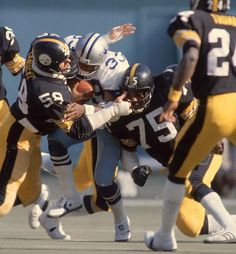 """Mean"" Joe Greene and Jack Lambert, Pittsburgh Steelers"