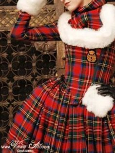 Alternative to a traditional wedding gown Mode Tartan, Tartan Kilt, Tartan Dress, Tartan Fashion, Love Fashion, Fashion Outfits, Womens Fashion, Scottish Kilts, Scottish Tartans