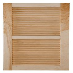 Perfect Shutters 15W in. Open Louvered Wood Shutters Natural - 1601575000C002