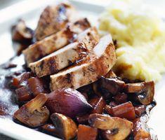 Recept: Kalkon bourguignon