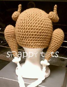 Ravelry: Cooked Turkey Hat pattern by Heidi Yates Crochet For Kids, Crochet Baby, Free Crochet, Knit Crochet, Turkey Hat, Turkey Time, Thanksgiving Crochet, Yarn Tail, Yarn Crafts