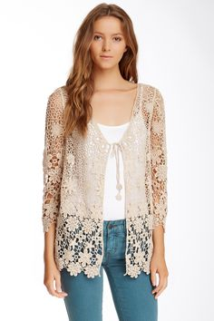 Cecico Open Front Lace Cardigan by Cecico on @nordstrom_rack