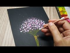 Watercolor Paintings For Beginners, Acrylic Painting Techniques, Watercolor Art, Dot Painting, Acrylic Painting Canvas, Flower Drawing Tutorials, Christmas Paper Crafts, Baby Drawing, Art Day