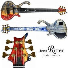 A Roya 6-string #bass with Poplar Burl & Spalted Maple top.