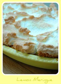 My Easy Lemon Meringue Pie Recipe - My Easy Cooking Cheesecake Recipes, Pie Recipes, Dessert Recipes, Cooking Recipes, Dessert Ideas, Lemon Meringue Recipe, Digestive Biscuits, Pudding Cake, Yummy Eats