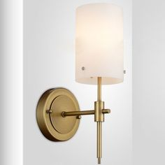 1 Light Wall Sconce in Antique Brass Finish