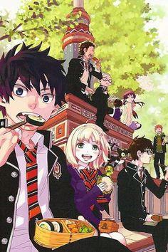 Ao no exorcist Ao No Exorcist, Blue Exorcist Movie, Blue Exorcist Cosplay, Blue Exorcist Anime, Rin Okumura, Anime Plus, Animes Yandere, Japanese Poster, Manga Covers