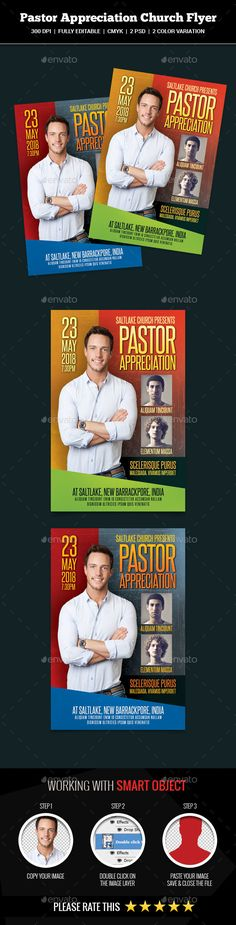 Pastor Appreciation Church Flyer Template PSD