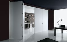 * Folding Partition, Folding Doors, Wall Partition, Luxury Interior, Interior Architecture, Interior Design, Tall Cabinet Storage, Locker Storage, Wall Design