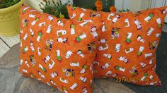 Halloween Pillow with Charlie Brown by 12dozen on Etsy, $14.00