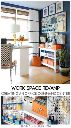 WORK SPACE REVAMP: Jenna Burger helps us get organized and create an office command center using a framed pegboard and organizational supplies.