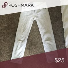 J.Crew cropped matchstick skinny jeans Light gray cropped jeans in excellent condition J. Crew Jeans Ankle & Cropped