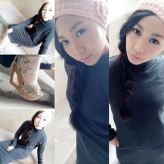 Last-Night time.  #ootn #ootd #girlsnightout #headband #braid #statmentheels #stockings #sweetgirl #kahyinlookbook #lookbook #outfit #winterfashion #winteroutfit #HongKong #hkig #hkiger #sgig #sgiger #frmSg #fashion #fatgirl #latergram #kahyinlam