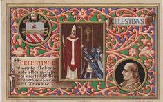 El Papa Celestino III (Giacinto di Pietro di Bobone)