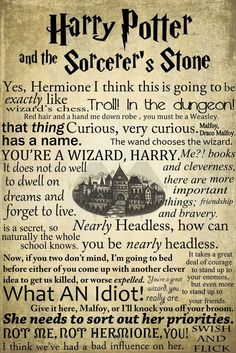 A Fantastic Series of Harry Potter Posters: The Sorcerer's Stone