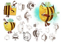 The bee - character design on Behance