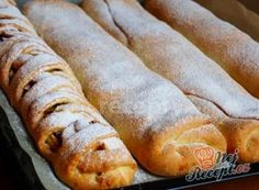 Apple Strudel with Cream Dough - Easy Recipes Apple Pancake Recipe, Pancake Recipes, Hot Dog Recipes, Easy Recipes, Czech Recipes, Dog Cakes, Bread And Pastries, Sweet Desserts, Desert Recipes
