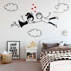 Simple Wall Paintings, Wall Painting Decor, Art Decor, Home Decor, Living Room Murals, Living Room Decor, Love Amor, Wall Drawing, Love Is In The Air
