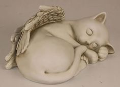 Angel Cat with Wings Garden Statue Available at AllSculptures.com
