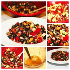 Warm Wild Rice and Pomegranate Salad with Homemade Pomegranate Vinaigrette {Gluten Free}