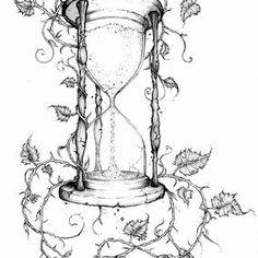 Tattoo frauen oberschenkel sanduhr 49 ideas for 2019 Dorn Tattoo, Hourglass Tattoo Meaning, Hourglass Drawing, Body Art Tattoos, Cool Tattoos, Tatoos, Manos Tattoo, Vine Drawing, Desenho Tattoo