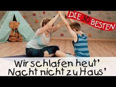 Wir schlafen heut' Nacht nicht zu Haus' - Yoga Bewegungslieder für Kinder II Kinderlieder - YouTube