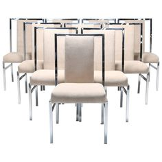 Daystrom Dining Chairs for Pierre Cardin, Set of Ten | From a unique collection of antique and modern dining room chairs at https://www.1stdibs.com/furniture/seating/dining-room-chairs/