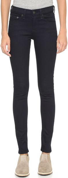 Rag and Bone High Rise Skinny Jeans on ShopStyle