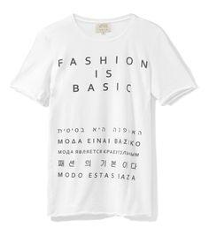 Fashion is Basic t-shirt FASHION Łukasz Jemioł sample sale on http://milieubazaar.com