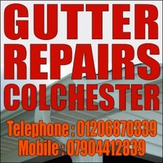 We specialise in gutter repairs, cleaning gutters, replacing guttering and downpipes, slated roofs, roof tiles and flat roof repairs Colchester 01206 870339 Flat Roof Repair, Colchester Essex, Roof Installation, Slate Roof, Roof Tiles