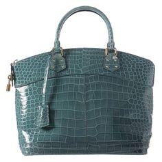 Louis Vuitton Crocodile Blue Satchel