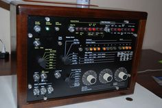 Vintage IBM System 370 console 3803 control unit LIGHTS UP display walnut #IBM