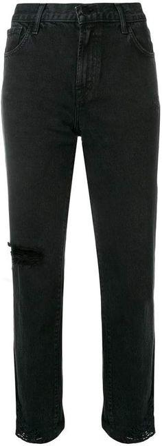 J Brand Cropped Slim-fit Jeans - Farfetch Cropped Jeans, J Brand, Black Cotton, Black Jeans, Women Wear, Slim, Boys, Fitness, Pants