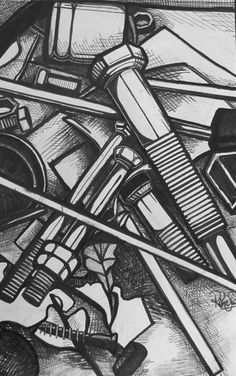 Pen & Ink Design Study - Conway High School Art Project
