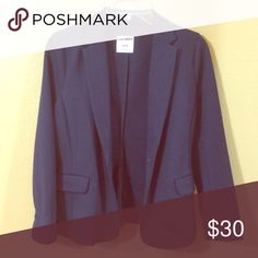 Blue Blazer Great condition. Only worn once!! Perfect for any business attire, casual or formal. It does fit a snug on the shoulders for a medium which is why I sized it as small Old Navy Jackets & Coats Blazers
