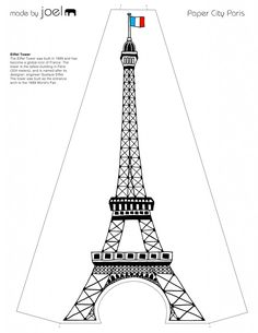 Paper City Paris Eiffel Tower Template