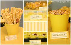 The Kavanaugh Report: Yellow Birthday Party desserts