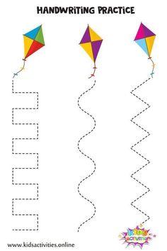 Free Preschool, Preschool Learning, Kindergarten Worksheets, Preschool Activities, Line Tracing Worksheets, Tracing Lines, Tracing Sheets, Prewriting Skills, Printable Activities For Kids