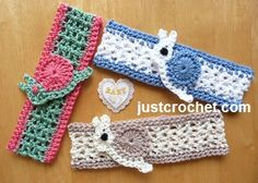 Free baby crochet pattern for Snail cotton headband. http://www.justcrochet.com/cotton-headband-usa.html #justcrochet #crochet #freebabycrochetpatterns