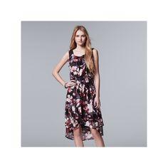 Women's Simply Vera Vera Wang Mesh High Low Dress, Size: Medium, Med Purple