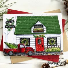 Honey Bee Stamps – Page 2 – Buzzworthy Stamps, Dies and Paper Craft Supplies Winter Cards, Holiday Cards, Christmas Cards, Christmas Ideas, Autumn Cards, Christmas Houses, Christmas Scenes, Christmas Tree, Paper Craft Supplies