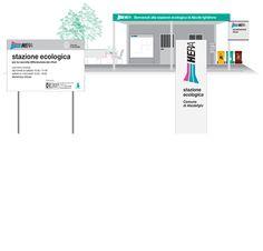 Gruppo Hera - sistema identità stazioni ecologiche Ravenna, Bar Chart, Diagram, Floor Plans, Bar Graphs, House Floor Plans